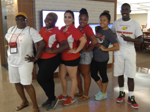 Joan Miller, Youth Advisor and Josaiah McLean visiting UNLV July 2016