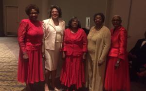 Brenda McLean, Marilyn Cash, Georgia Shepard, Ann Harris with MER Director Juanita Jones