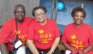 Joan Miller, National President Dr. Lillie Robinson and Brenda McLean at People First Outing